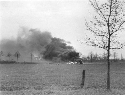 Me 262 neergeschoten boven Helmond