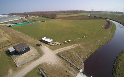 Luchtfoto's van het veld